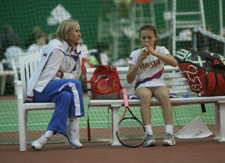 Тренер команды девочек Ирина Доронина и Татьяна Макарова