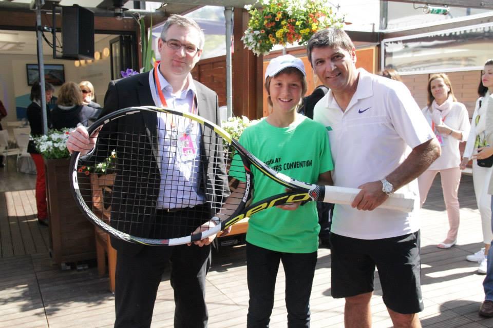 На следующий день, 2 июня, в 10 утра у нас была встреча с президентом компании Eric Babolat и Toni Nadal