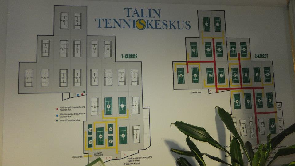 Это один из самых крупных теннисных центров в Европе.