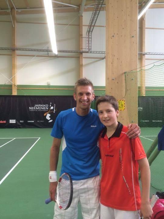 После тренировки с Jarkko Nieminen в JNTA