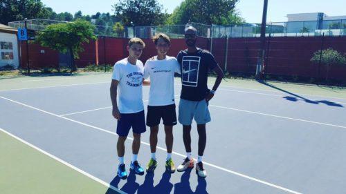 В течение двух недель я тренировался со своим тренером Kerei ABAKAR и с главным тренером по ОФП Gerald Cordemy.