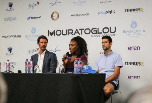 Мероприятие началось с пресс-конференции основателя академии, а также самых почетных гостей - Новака Джоковича и Серены Уильямс.