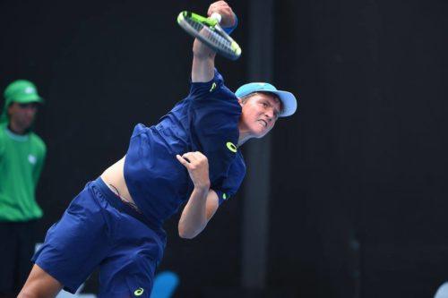 Алексей Захаров на Юниорском Australia Open, который проходил в Мельбурне с 21 по 27 января 2017 года