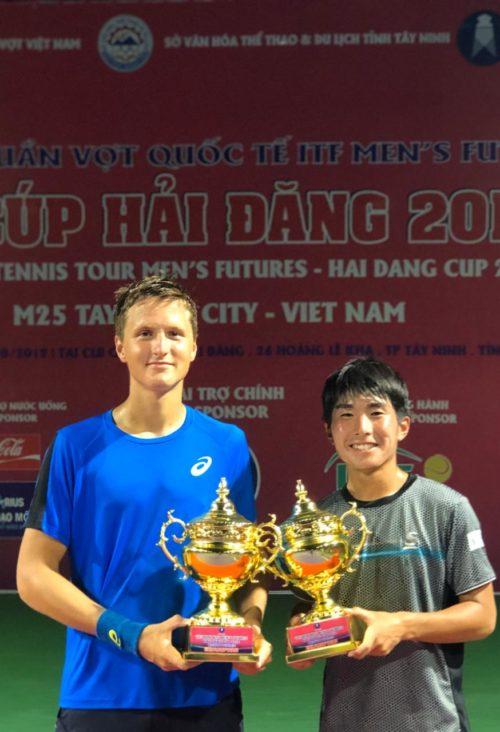В паре с Rio Noguchi из Японии в полуфинале уступили победителям турнира со счетом 67(4) 63 (14-12). Но на втором турнире мы смогли взять титул, победив со счётом 67 (5) 64 (10-4) пару Samuel Beren (USA) и Billy Harris (GBR)