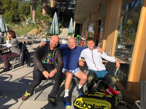 Завтра последний день тренировок. На снимке: Андрей Чесноков, Бруно Монсенжон, Алексей Захаров.