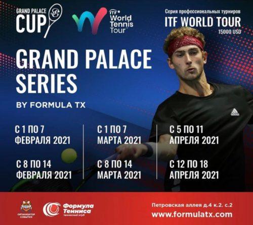В Санкт-Петербурге с 1 февраля 2021 проходит серия профессиональных мужских теннисных турниров категории ITF PRO CIRCUIT и ATP TOUR Chellenger.