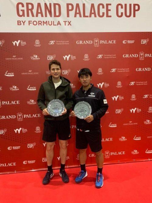 В апреле 2021 в Санкт Петербурге проходили два турнира, на обоих с партнёром из Японии Tajima Naoki мы дошли до финала в парном разряде.